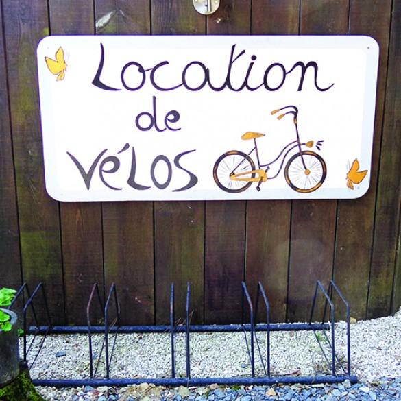 Décors personnalisés panneau location de vélos