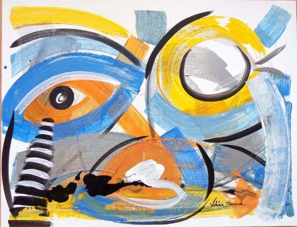 Peinture originale Décoration Tableau 'Vision'