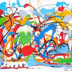 Peinture originale Tableau Valérie Brand 'Osmose'