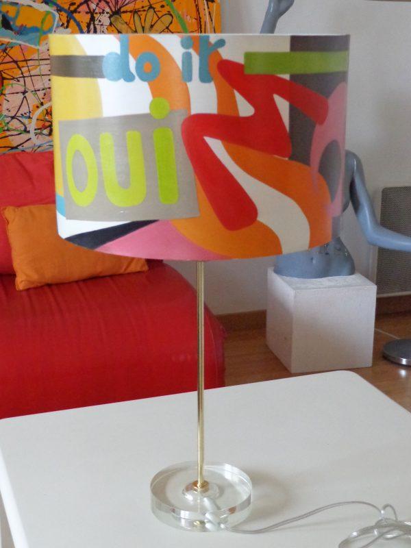 Peinture originale Lampe Décoration 'Do it'