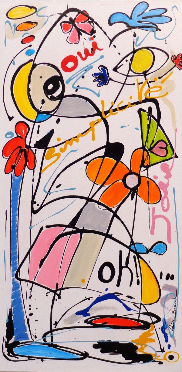 Peinture originale sur toile Tableau 'Ouverture'