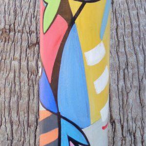 Peinture originale sur verre 'Vibrations'