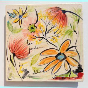 Art de la table Céramique Plat 'Le jardin des délices'