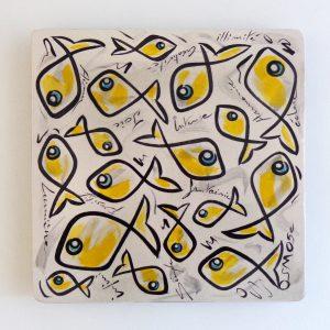 Art de la table Plat en céramique 'Yellow'