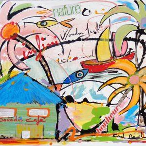 Tableau Peinture originale 'Couleurs Paradis'