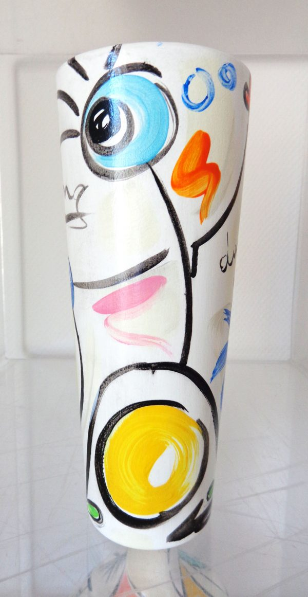 Peinture originale Vase 'Dance with me'