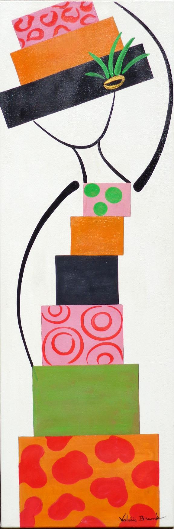 'Femme de couleurs Tableau Peinture originale