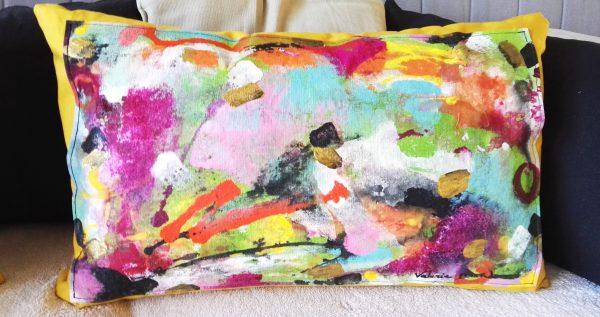 'Rendez-vous au jardin' Coussins Décoration Peinture originale