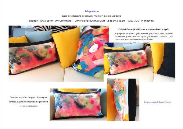 'Magdalena' Coussins Peinture originale